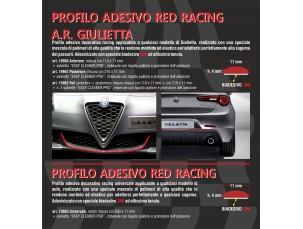 PROFILO ADESIVO RED RACING ANTERIORE A.R.GIULIETTA