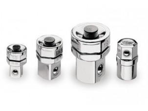 kit di 4 adattatori per chiavi a cricchetto: 1 adattatore per bits 3 adattatori a sgancio rapido