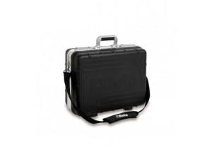 valigia portautensili in polipropilene ad alto spessore, profilata in alluminio, vuota.