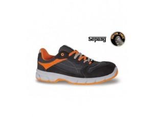 scarpe basse in pelle scamosciata con inserti in nylon