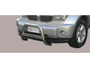 MEDIUM BULL BAR INOX CON SCRITTA DODGE NITRO 2007 -